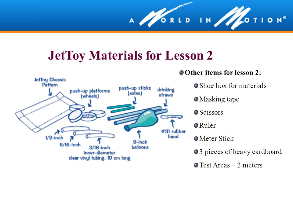 JetToy Materials for Lesson 2