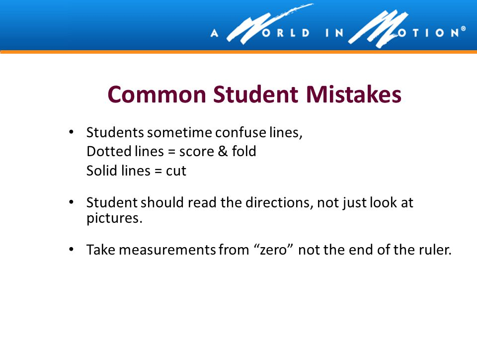 Common Student Mistakes