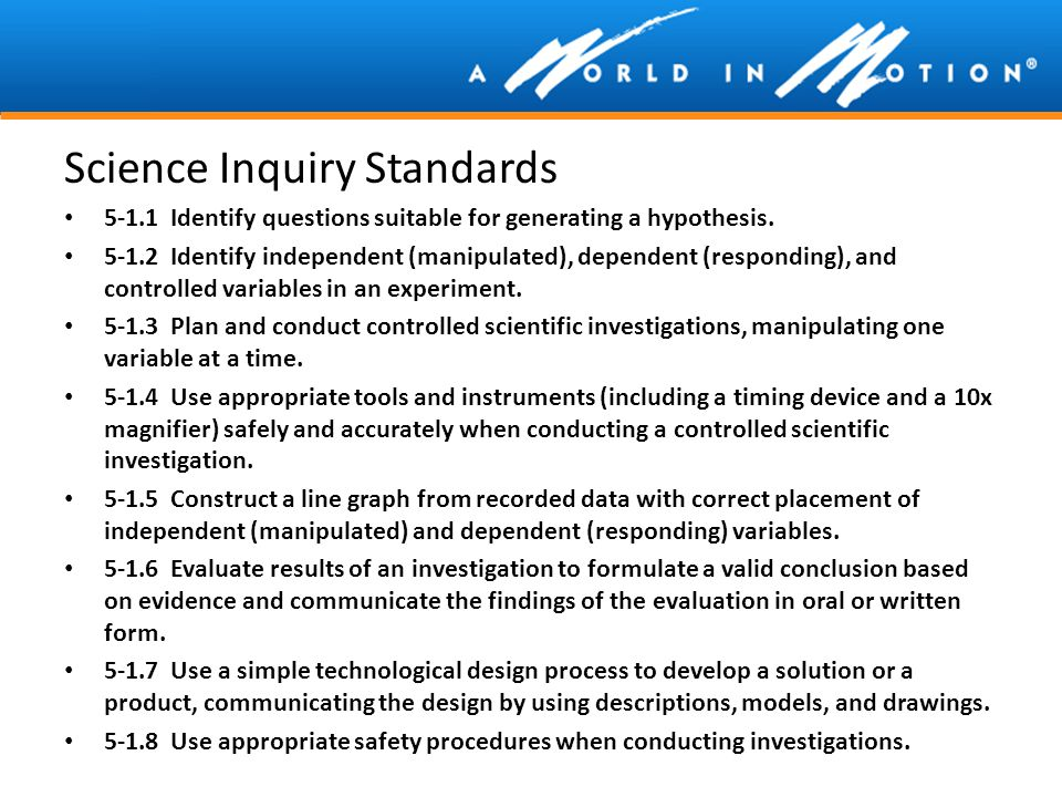 Science Inquiry Standards