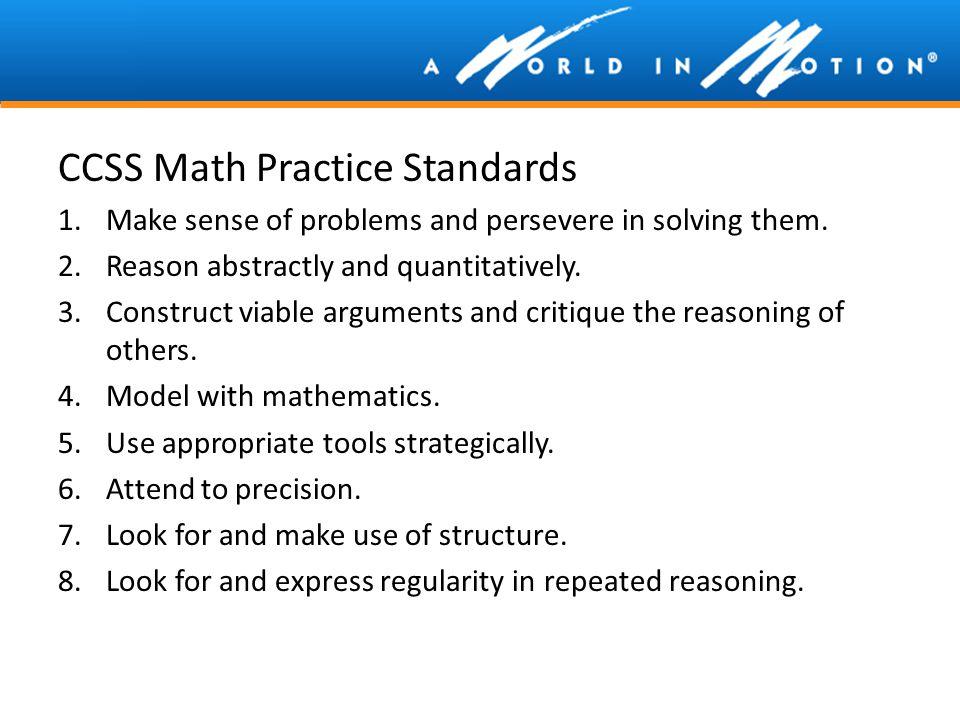 CCSS Math Practice Standards