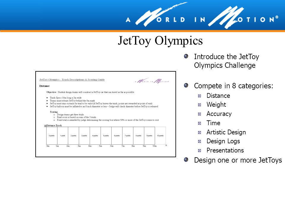 JetToy Olympics Introduce the JetToy Olympics Challenge