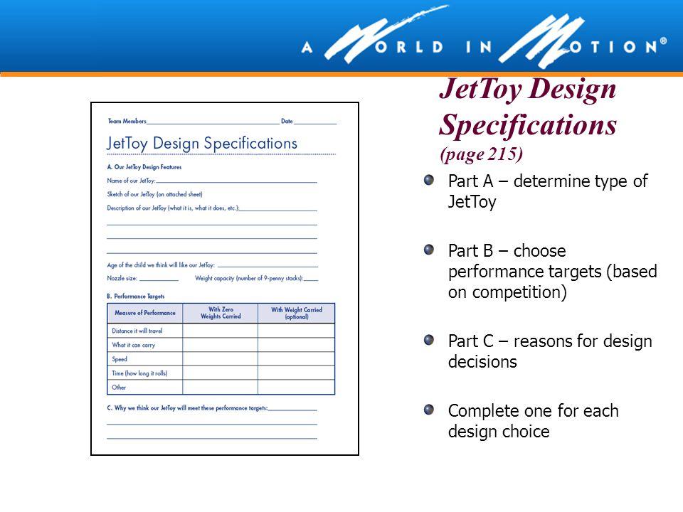 JetToy Design Specifications (page 215)