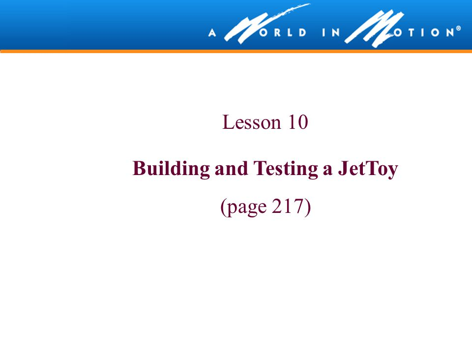 Building and Testing a JetToy