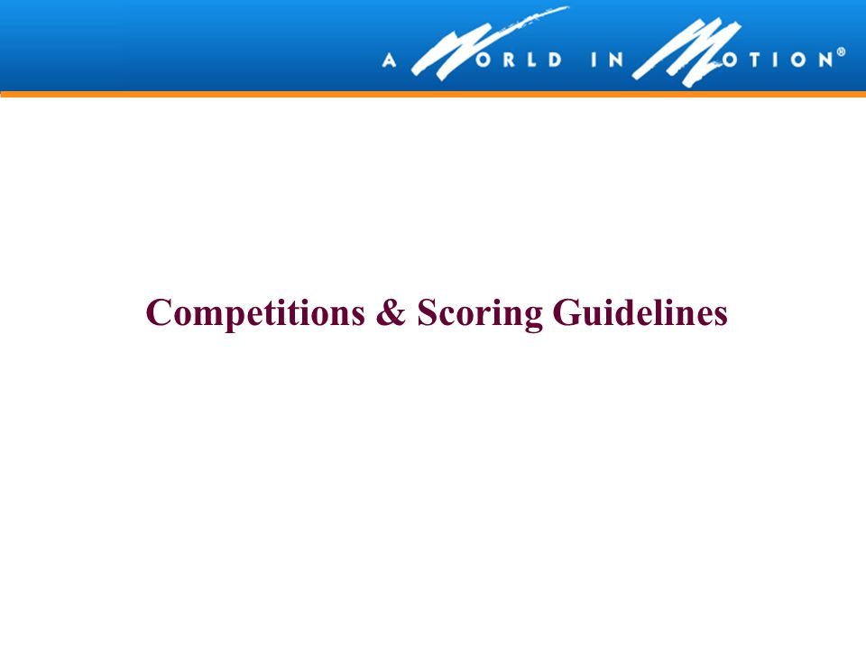 Competitions & Scoring Guidelines