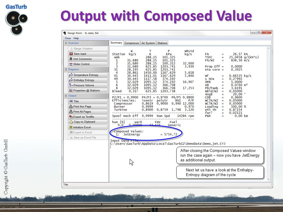Output with Composed Value