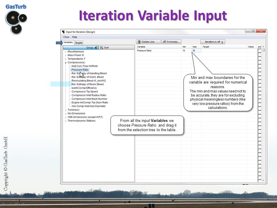 Iteration Variable Input