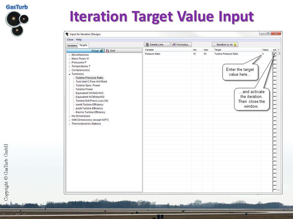 Iteration Target Value Input