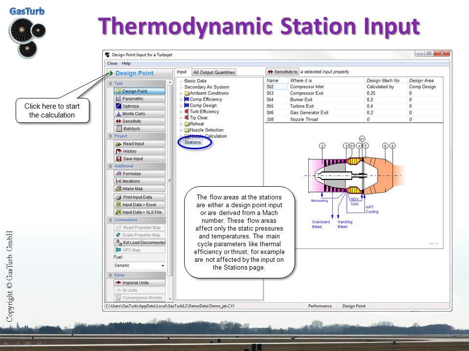Thermodynamic Station Input