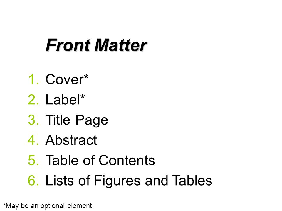 Professional and Technical Writing/Design/Front Matter