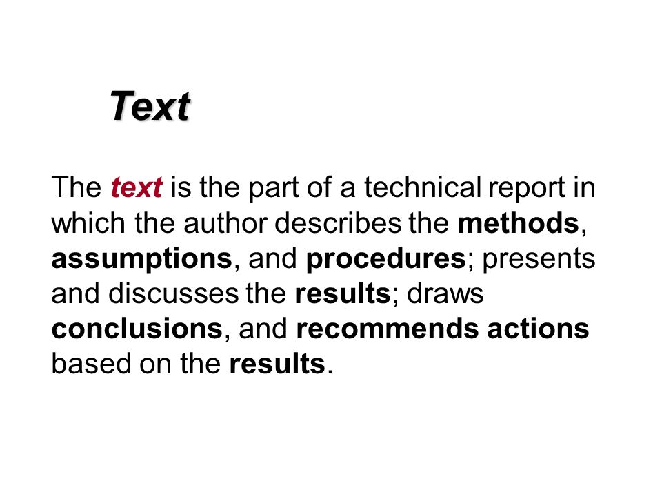 Technical Report Writing