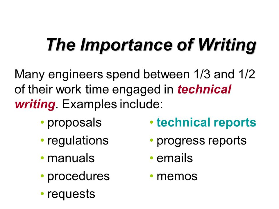 definition of technical report writing Online technical writing--extended definition an important writing tool you'll need outline of a report with a section of extended definition.