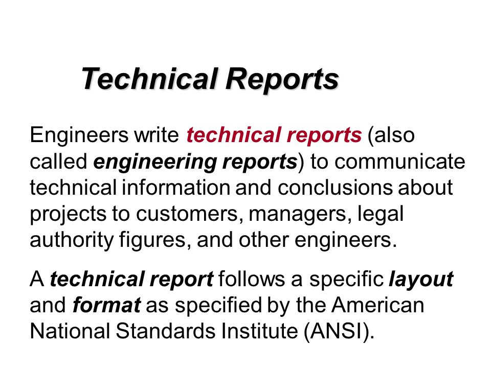 how to write a technical report template