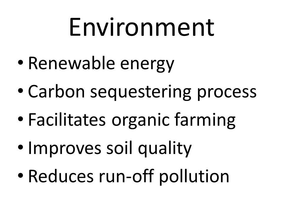 Environment Renewable energy Carbon sequestering process
