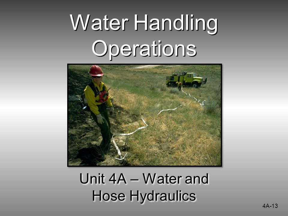 Water Handling Operations