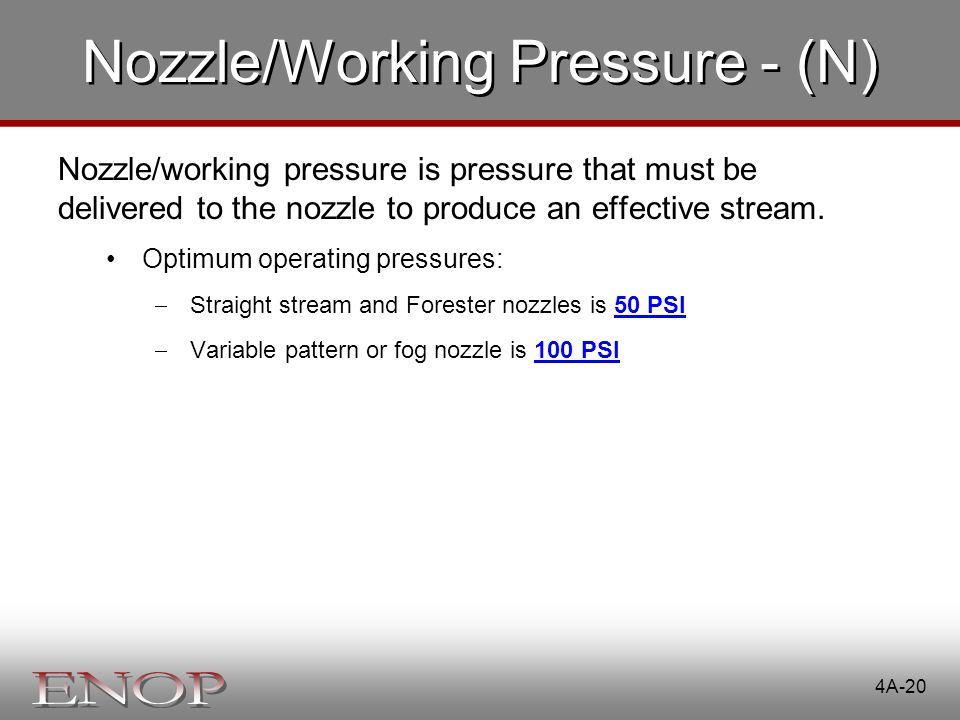 Nozzle/Working Pressure - (N)