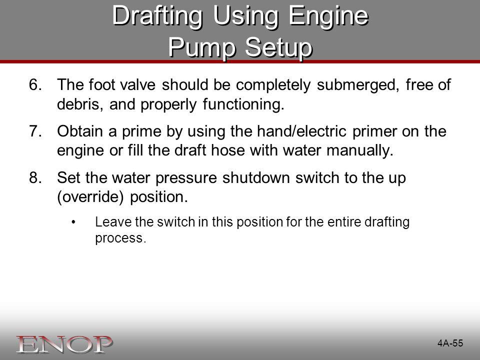 Drafting Using Engine Pump Setup