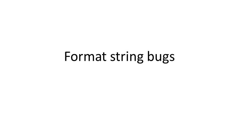 Format string bugs