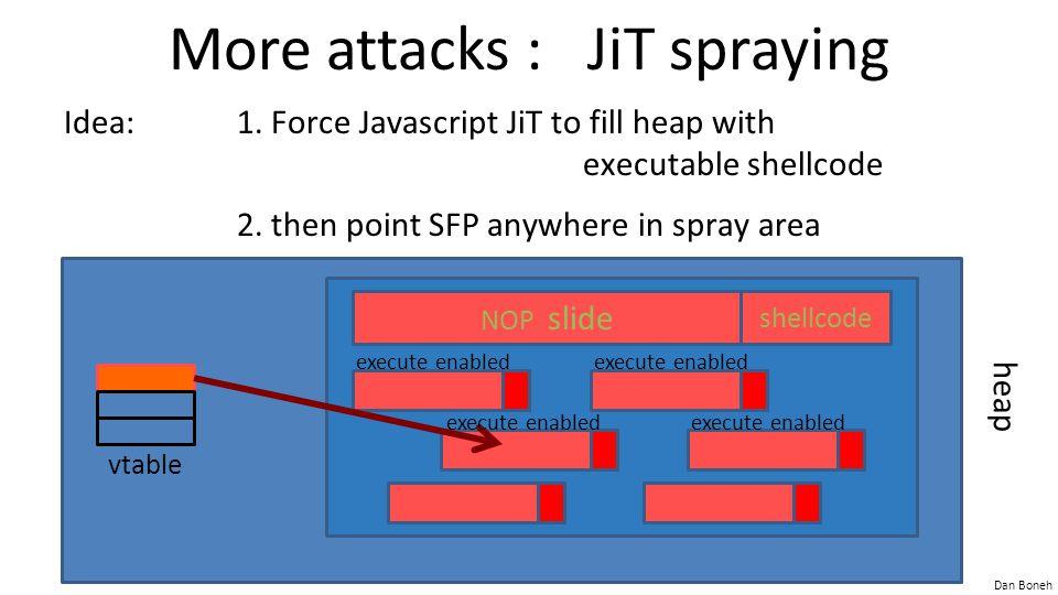 More attacks : JiT spraying