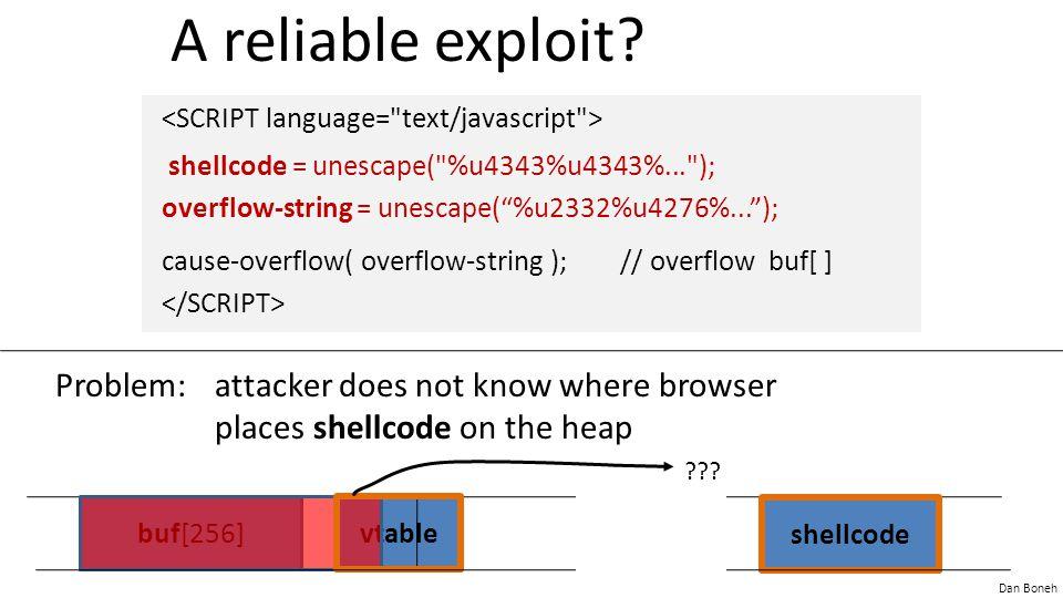 A reliable exploit <SCRIPT language= text/javascript >