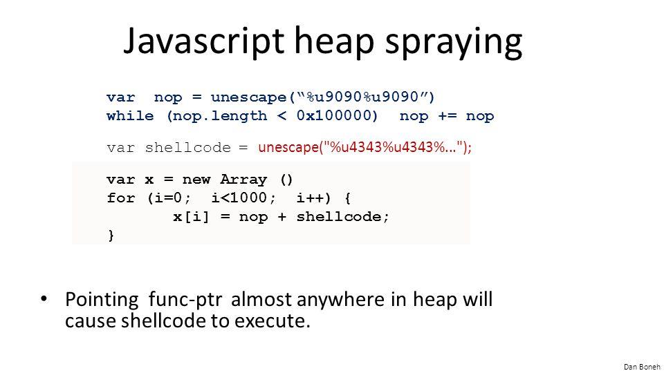 Javascript heap spraying