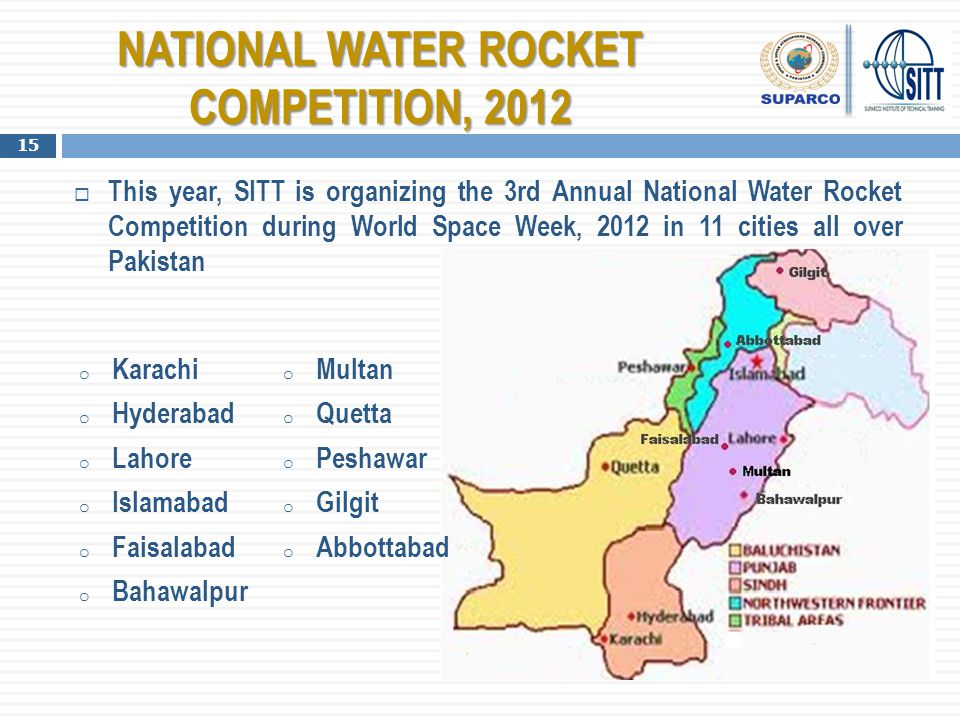 NATIONAL WATER ROCKET COMPETITION, 2012