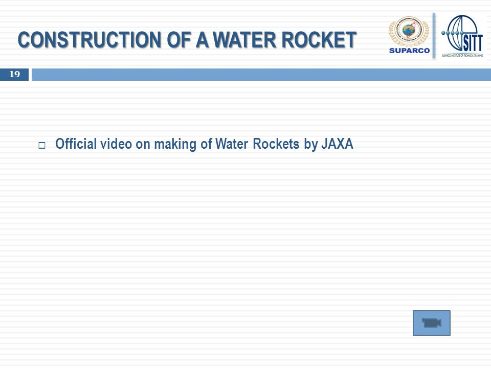 CONSTRUCTION OF A WATER ROCKET