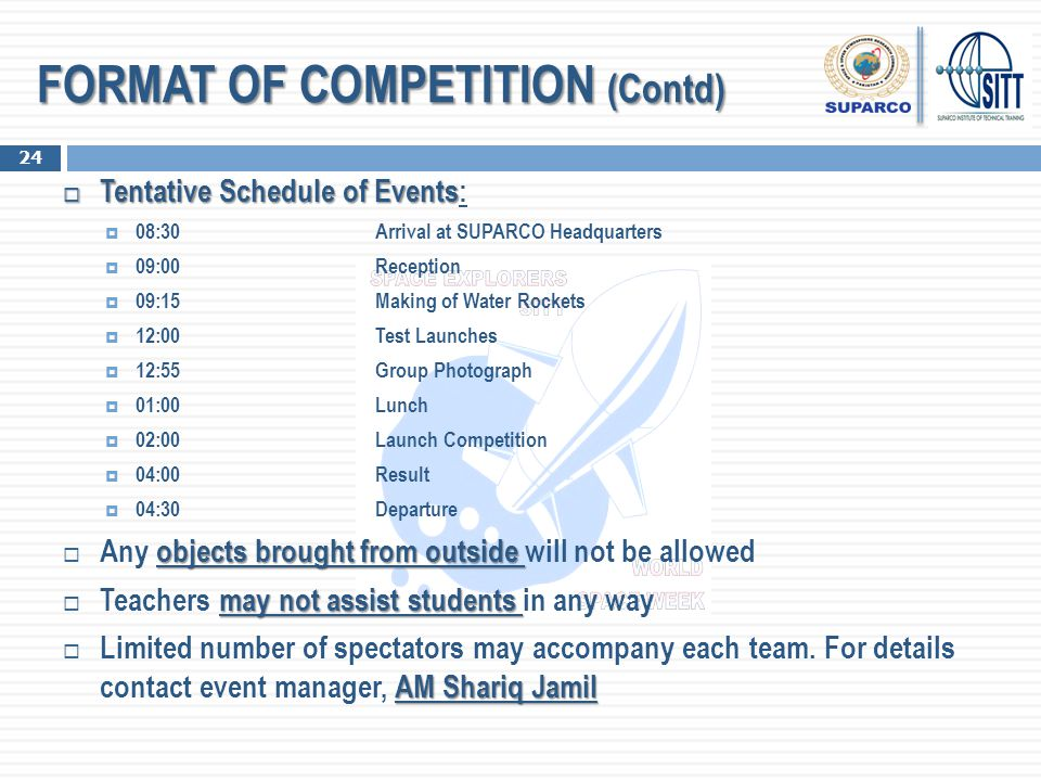 FORMAT OF COMPETITION (Contd)