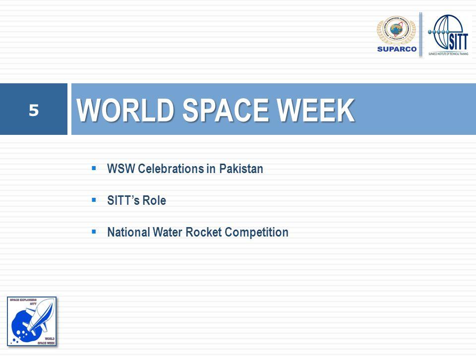 WORLD SPACE WEEK WSW Celebrations in Pakistan SITT's Role