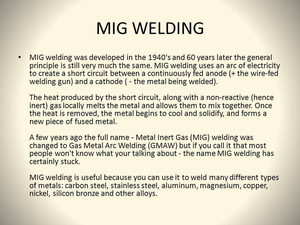 MIG-Wire Welding instructables.com. - ppt video online download