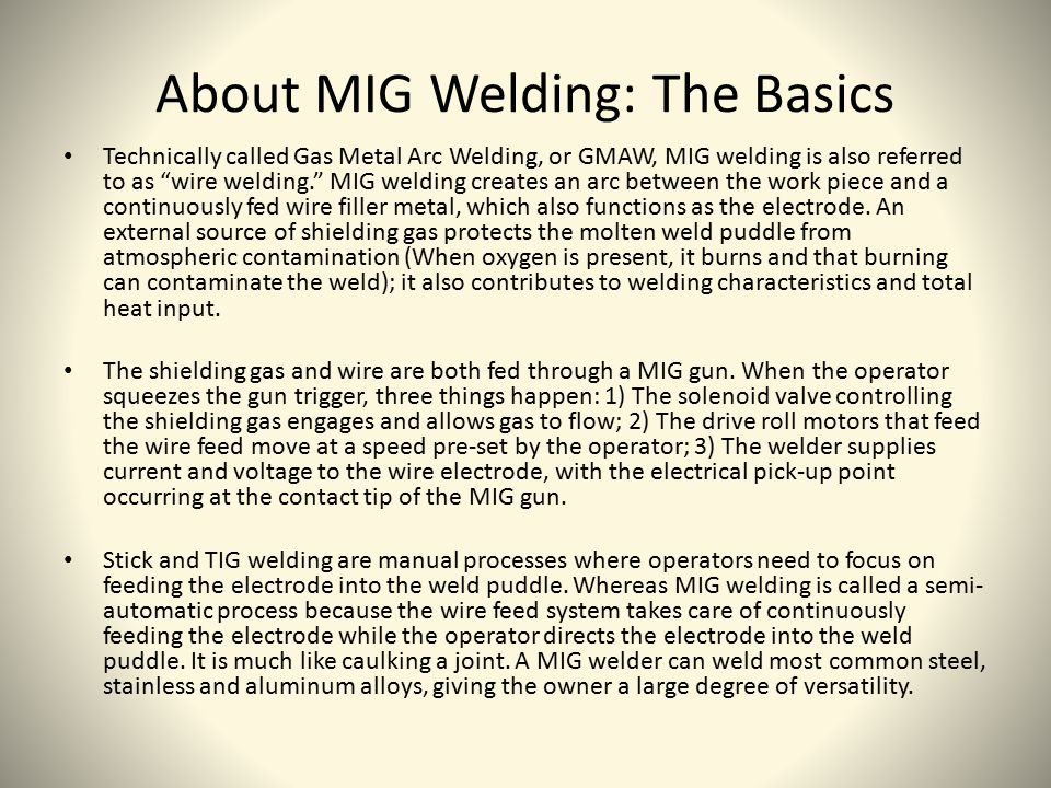 About MIG Welding: The Basics