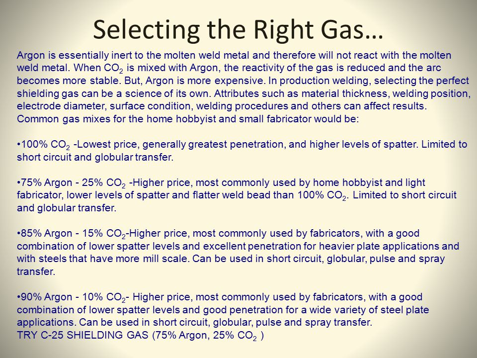 Selecting the Right Gas…