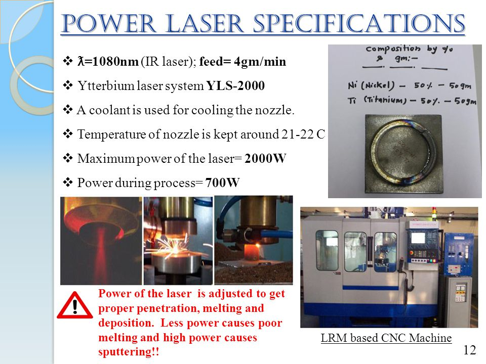 POWER LASER SPECIFICATIONS