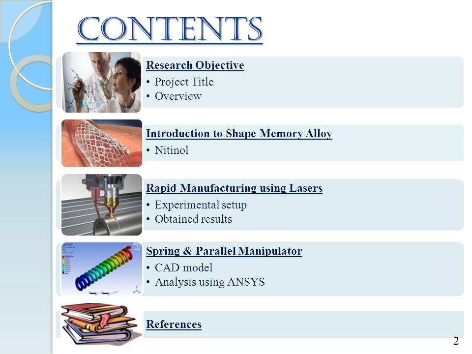 contents Research Objective Project Title Overview