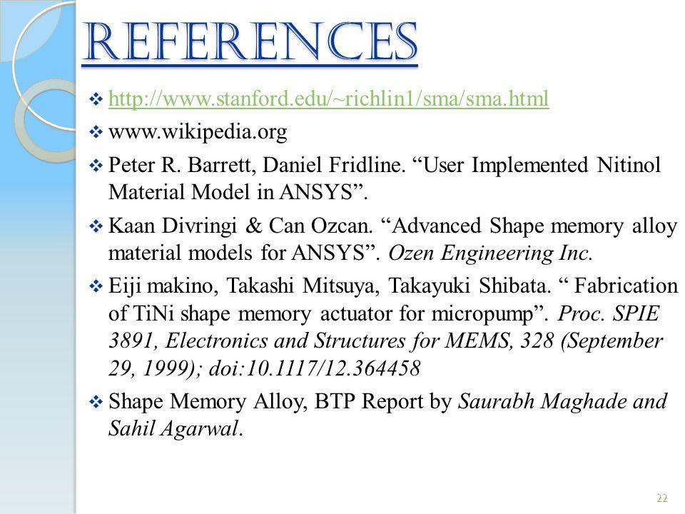 REFERENCES http://www.stanford.edu/~richlin1/sma/sma.html