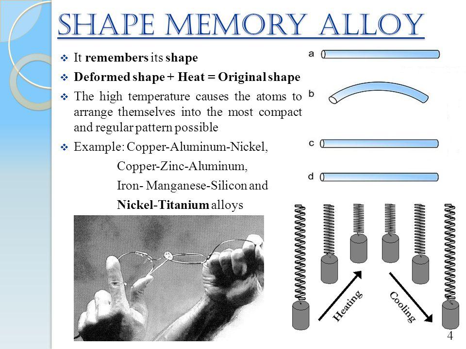 Shape Memory Alloy It remembers its shape