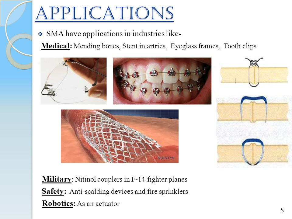 APPLICATIONS SMA have applications in industries like-