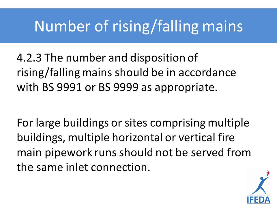 Number of rising/falling mains