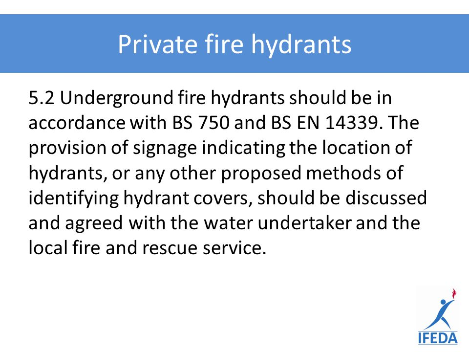 Private fire hydrants