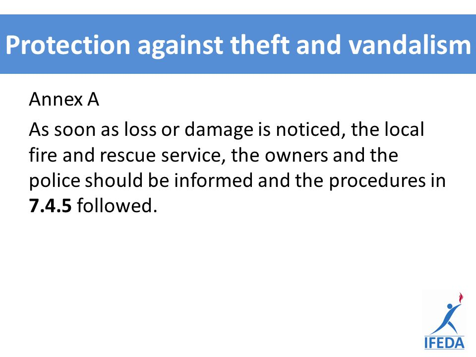 Protection against theft and vandalism