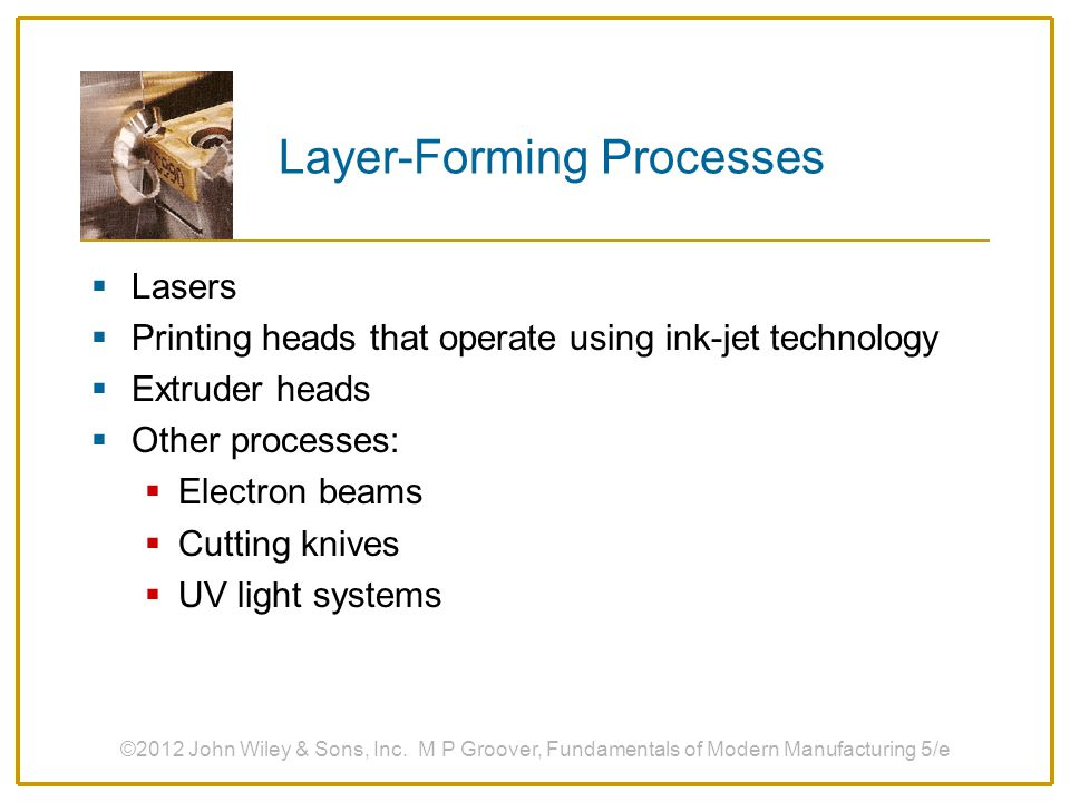 Layer-Forming Processes