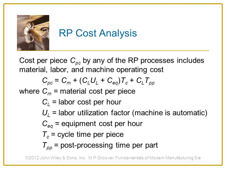 RP Cost Analysis