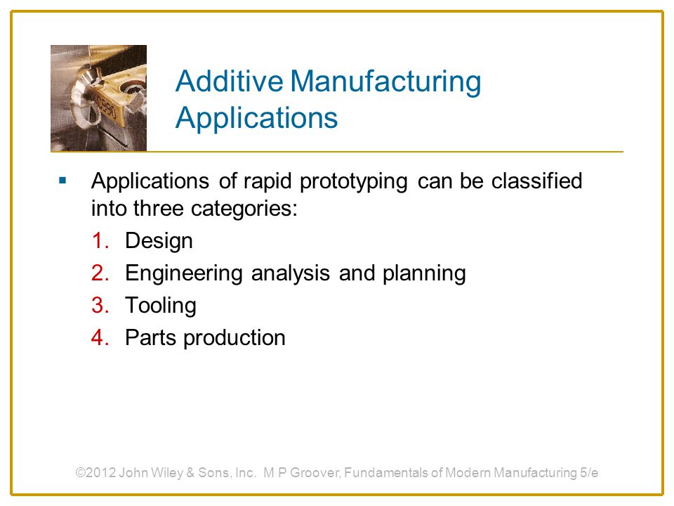 Additive Manufacturing Applications