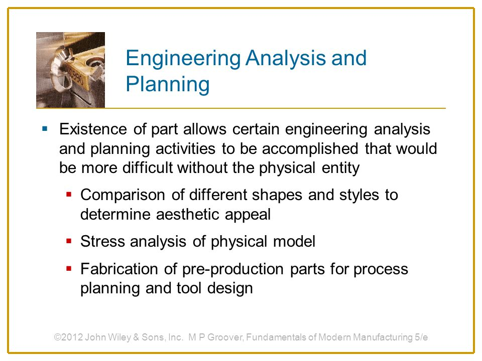 Engineering Analysis and Planning