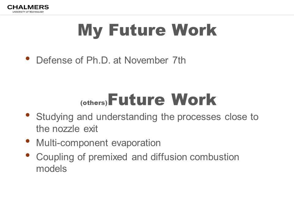 My Future Work Defense of Ph.D. at November 7th
