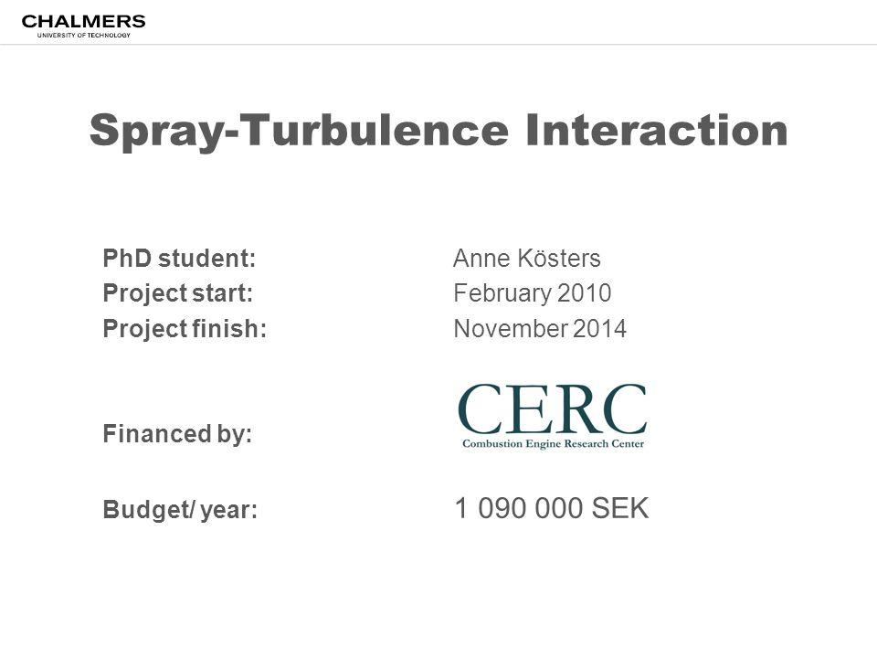 Spray-Turbulence Interaction