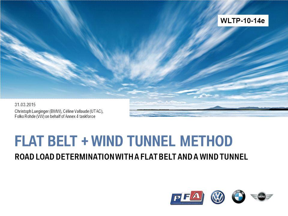flat belt + wind tunnel method