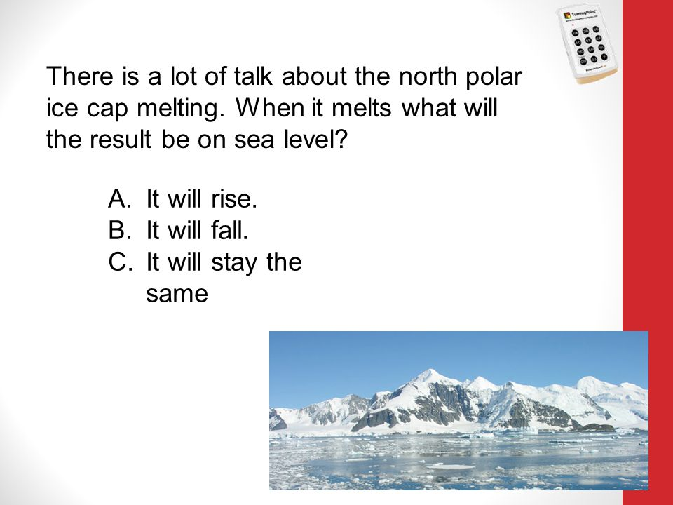 There is a lot of talk about the north polar ice cap melting