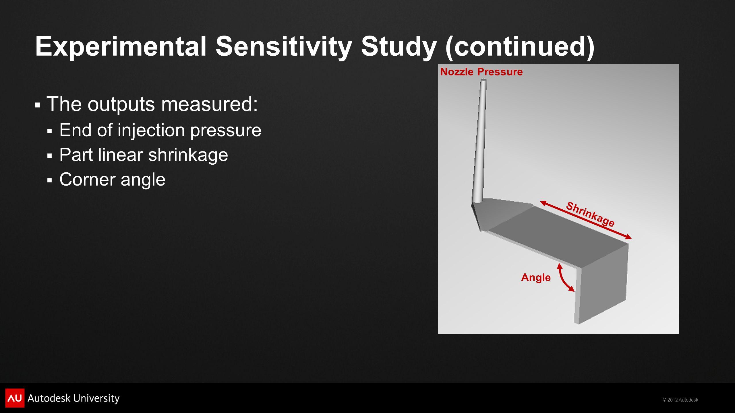 Experimental Sensitivity Study (continued)