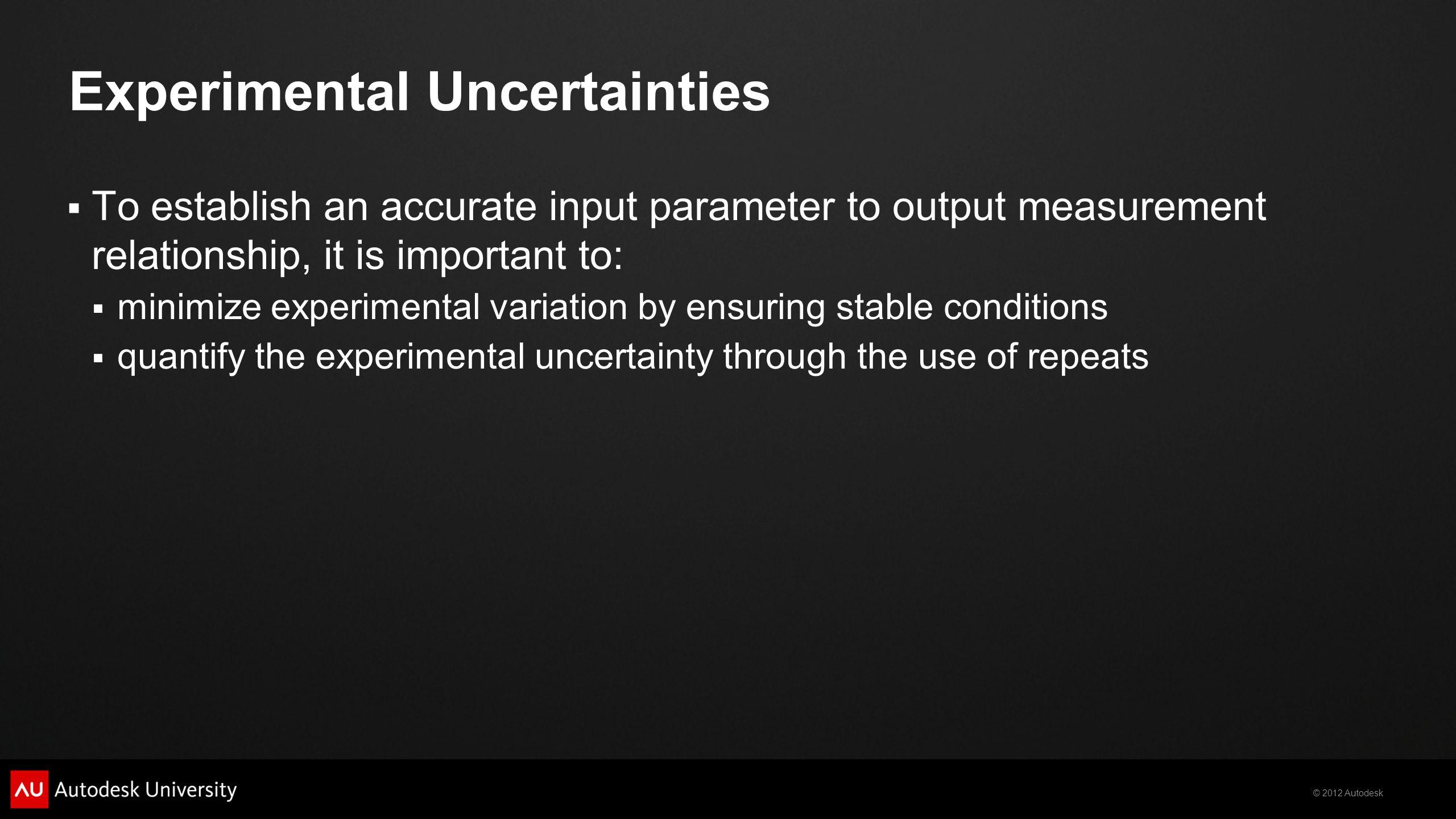 Experimental Uncertainties