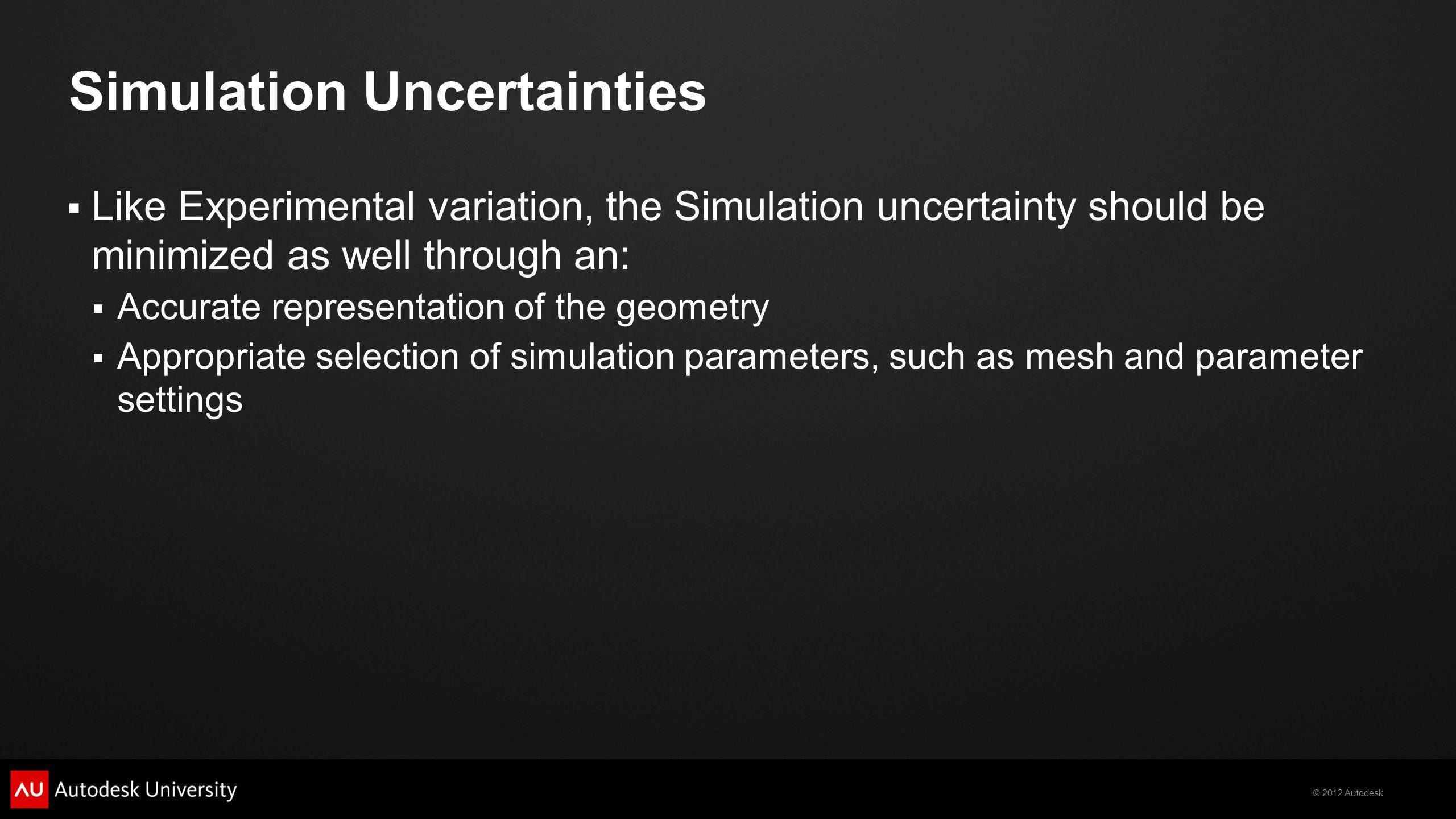 Simulation Uncertainties
